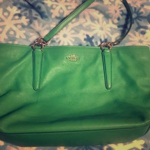 GREEN COACH PURSE